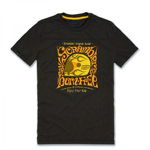 t-shirt hippy scrambler- cabutti motor