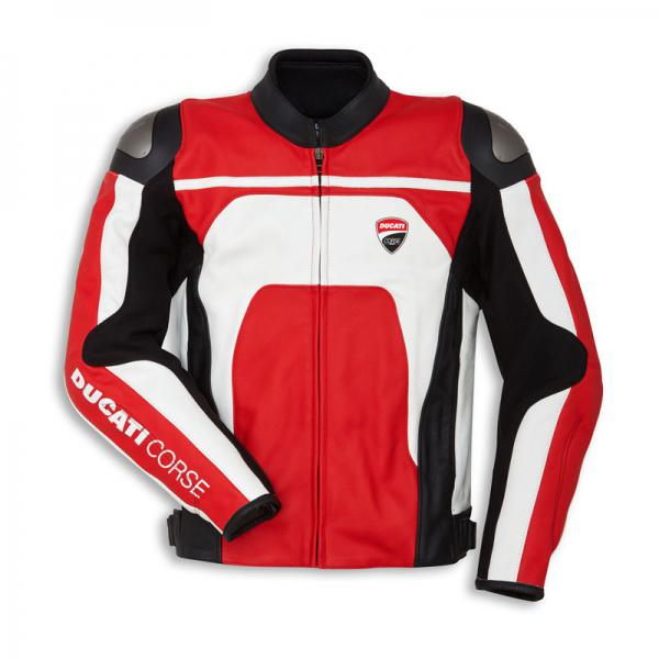 Ducati 9810452 Corse C4 Giubbino In Pelle Per Uomo